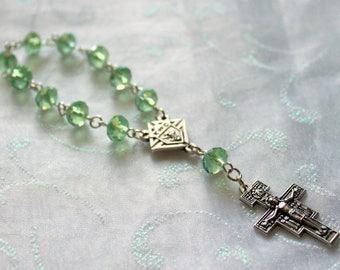 Green Peridot One Decade Travel Rosary