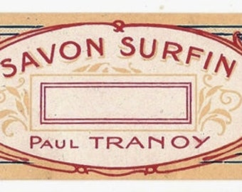 French Vintage Soap Label jpeg instant digital download