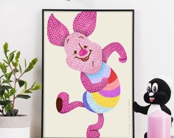 Happy Piglet Graphic Print