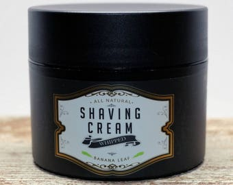 All Natural Shaving Cream with Banana Leaf Scent