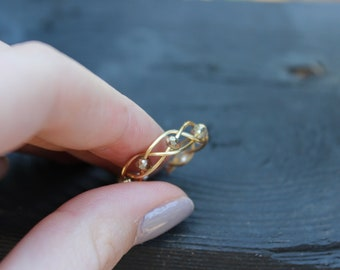 Gold Ajustable Wire Ring