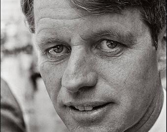 RFK UP CLOSE, Robert F. Kennedy portrait, Clyde Keller 1968 Photo
