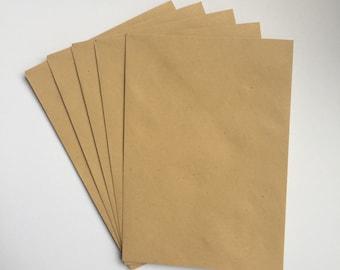 10 Manilla Gummed C6 Envelopes