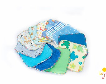 Set of 8 Cloth Wipes, Flannel wipes, Reusable wipes, Baby Wipes, Family Cloth, washable wipes, reusable cloths, face cloths, diaper wipes