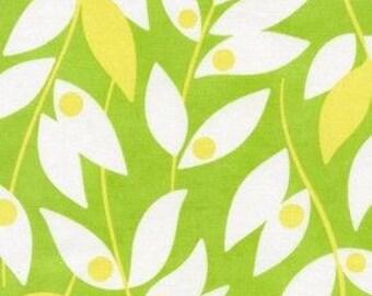SALE - 1 yard - Lindy Leaf, Green, Nicey Jane by Heather Bailey, Free Sprit Fabrics