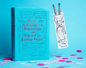Alice in Wonderland babe bookmark. Alice bookmark. Creative and unusual gift for her, for mom, for hostess, for teen girl, women, granny