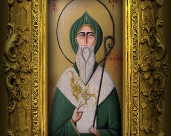 Saint Patrick Icon Giclee Print by Tim Campbell
