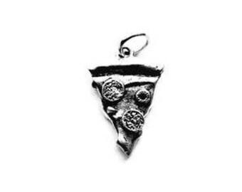 Pizza Slice, Pizza Slice Jewelry, Charms, Pizza, Pizza Pendant, Food Charm, Pepperoni Pizza, Pizza Jewelry, Silver Charm, Pizza Slice Charm