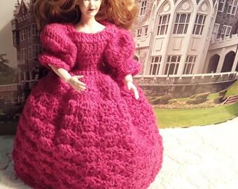 Victorian Dress for Heidi Ott Dollhouse Miniature Dollhouse dress 1:12 handmade princess dress miniature dolls clothes dress for Heidi Ott