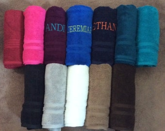Personalized Embroidered Bath Towels 30x54