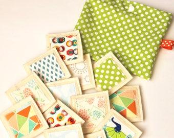 Fabric memory game. Montessori activity.