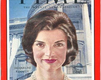Time Magazine Jacqueline Kennedy Inauguration Day Issue  January 20,1961   JFK  John  Very Collectible  Wonderful Condition  Look !