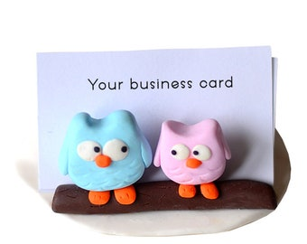 Multifunctional/neutral cute business card holder