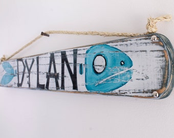 Personalized Kids Name Sign Kids Room Decor Baby Shower Gift Baby Name Sign Shabby Chic Wooden Beach Sign Beach Baby Nursery Surf Baby Room