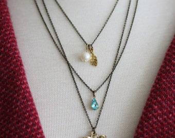 Bohemian Layered Necklace Boho Layered Necklace Boho Jewelry