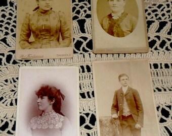 4 Antique Cabinet Photo Collection~Victorian Fashion~Antique German Pictures~Victorian Home Decor~