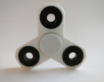 Spinner Co 3D Printed EDC Tri-Spinner Focus Fidget Toy with Caps