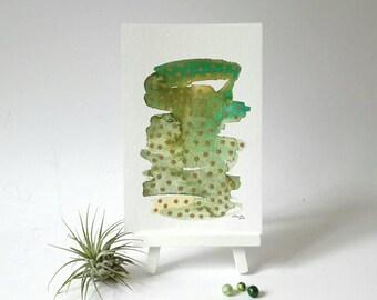 Moderne abstrakte Kunst, abstrakte Aquarell, Wand-Dekor, Aquarell, goldene Aquarell Kunst, original-Artworks, Schreibtisch Dekor