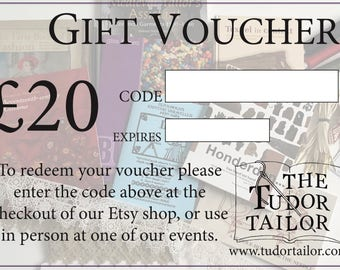 Gift Voucher / Gift Card - 20 Pounds