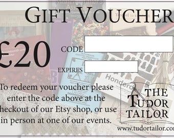 Digital Gift Voucher / Gift Card - 20 Pounds