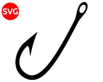 fishing hook svg etsy rh etsy com fish hook heart clipart fish hook clip art free