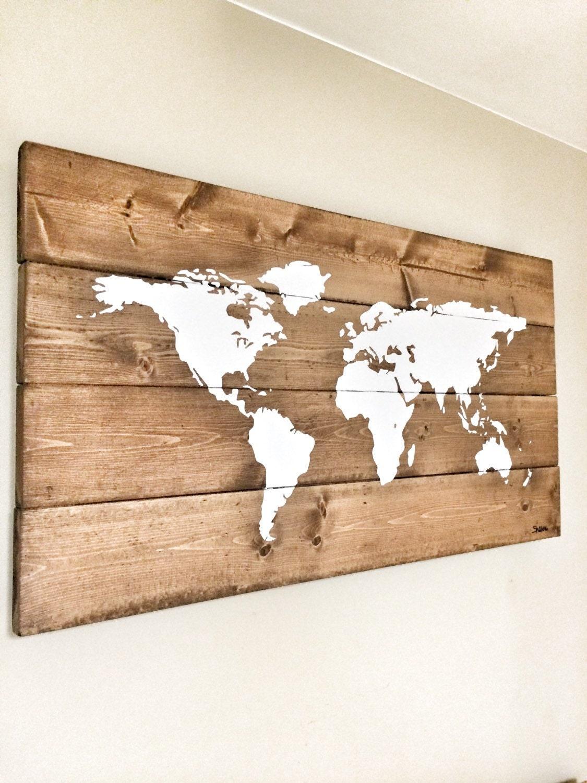 extra world art decor pin wall rustic print map canvas large