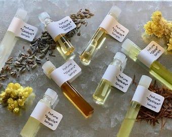 Natural Perfume Sample Vials - Set of 3 Vials, you choose.