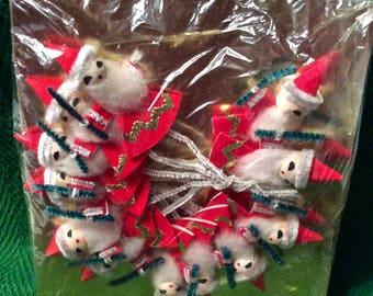 Vintage Santa Package Decorations