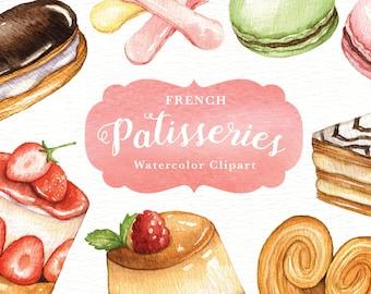 french bakery art etsy rh etsy com Food Clip Art Dessert Contest Clip Art