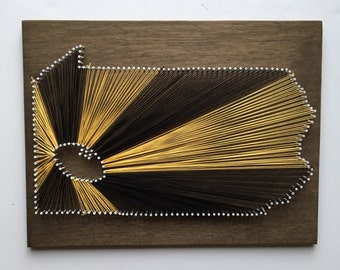 MADE TO ORDER Pittsburgh Steelers String Art, Pittsburgh Pennsylvania String Art, Any State String Art