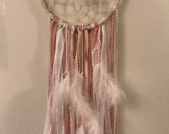 Pink dream catcher and Pearl