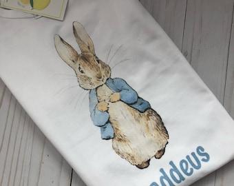 Peter Rabbit boy t shirt with name