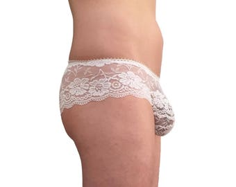 Lace panties for men in gorgeous white lace