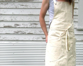 SALE Canvas Utility Apron Made to Order 7-10 business days processing time