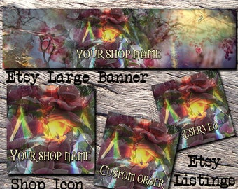 ETSY LARGE COVER Complete Set-Nature Etsy Cover Photo-Premade Banner,Etsy Set-New Age Banner- Etsy Large Cover,Mystical Large Cover, #124