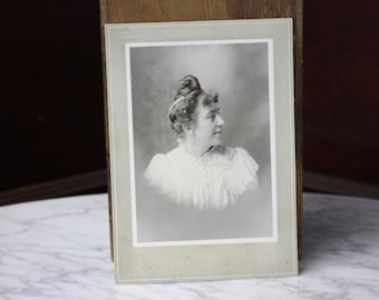 Antique Photograph - Victorian Woman - Portrait - Cabinet Card - 1800's - Lorning Studio - Antique Photography - Vintage Photography