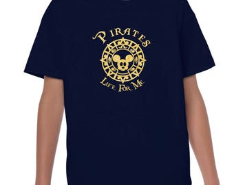 Youth Pirates Life For Me Gold Foil Doubloon tshirt