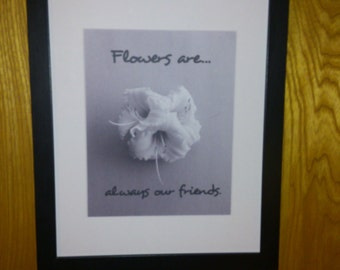 Flowers are Always Our Friend Print