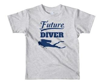 Future Diver T Shirt Kids Scuba Diving Tee