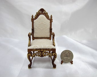 Hand Painted Miniature 1:12 Scale  Chair For Doll House