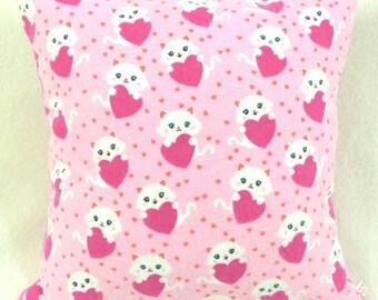 Cat Lovers Heart Pillow! Super Cute!