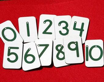 Mini Sandpaper Numbers on FIBERBOARD WOOD