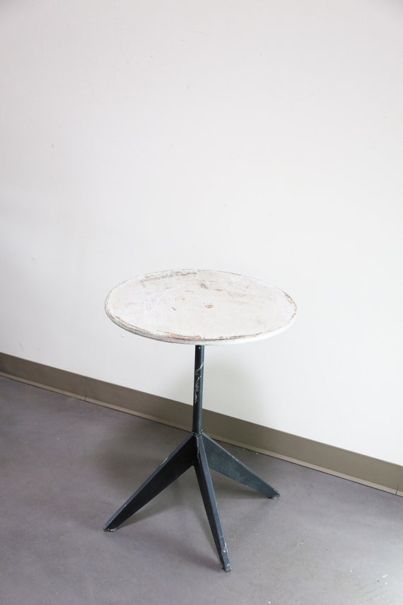 Sold ** Primitive Modernist Round Table