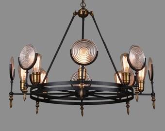 Beautiful industrial art-deco chandelier
