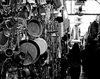 Black and White Photography, Urban Photography, Black and White Wall Art Print, Black and White Home Decor, Flea Market Decor