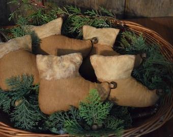 Primitive Handmade Elf Boot/Shoes Bowl Fillers ~ Winter ~ Christmas