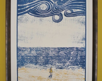 That Was the River - Silkscreen print.