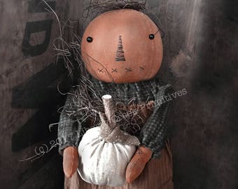 Primitive Pumpkin Doll Pattern Hilda
