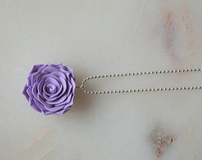 Handmade necklace for mom, Floral gift for her, Polymer clay jewellery,  Floral gift for mom, Special gift for her, Summer jewellery, Roses