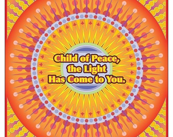 A Course In Miracles Coloring Book Page Child of Peace
